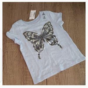 **5 for $15** Glitter Butterfly Toddler Tee